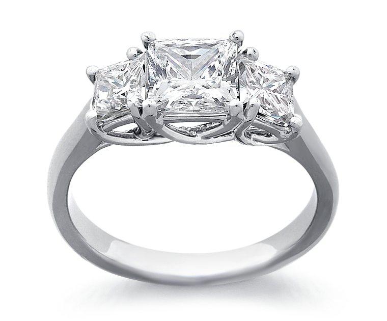 Кольцо с бриллиантом принцесса - 11fb