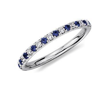 Обручальное кольцо с сапфирами