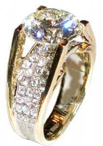 Кольцо с бриллиантом 3 карат Де Бирс. 567f3e8822d