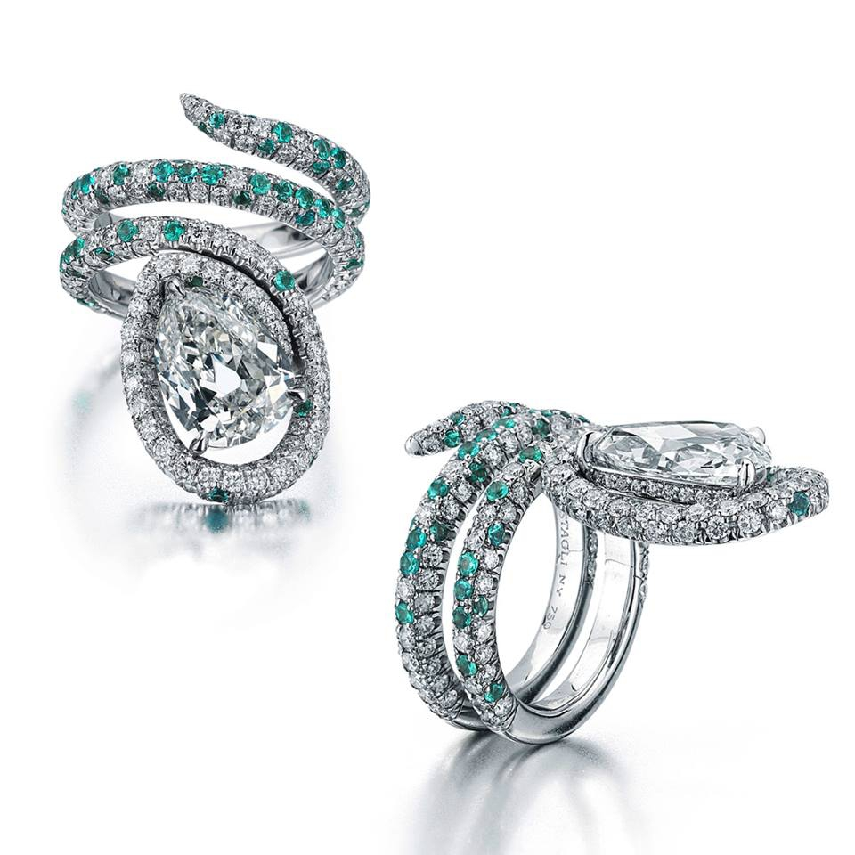 Женское обручальное кольцо с бриллиантом